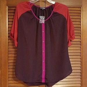 NWOT Express button-up blouse